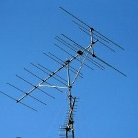 八木式アンテナ。最も多く見られるアンテナです