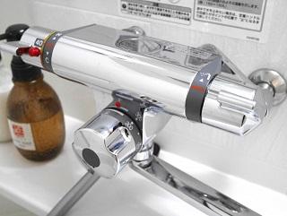 サーモミキシング型とは湯温が自動的に調節される栓のこと